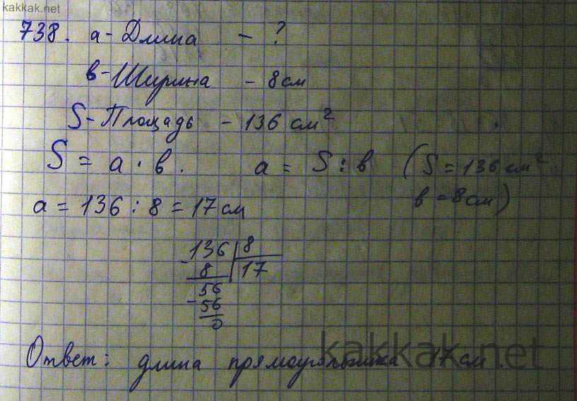 Как решить номер 738 математике 5 класс